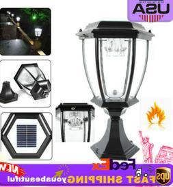 Solar Outdoor Power Yard Lantern LED Light Pillar Post Lands