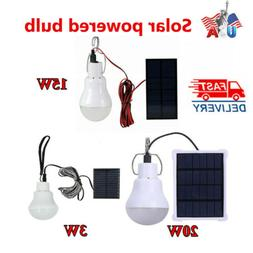 Solar Panel Powered LED Lights Bulb Light  Tent Lamp Yard Ca