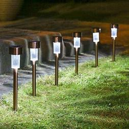 12 Pack Solar Path Lights Outdoor Stainless Steel Walkway Pa