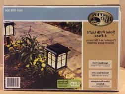Hampton Bay Solar Pathway Light  Rechargeable LED Aged Black