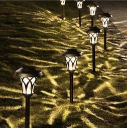 GIGALUMI Solar Pathway Lights 6 Pack, Solar Landscape Lights