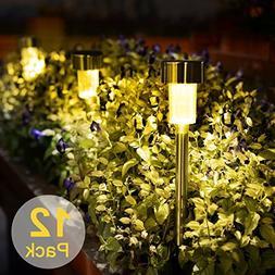 Solar LED Pathway Lights, Stripsun 12 Pack Outdoor Garden Li