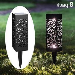 Maggift 8 Pcs Solar Pathway Lights Solar Garden Lights Solar