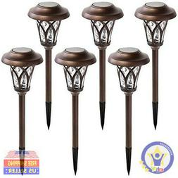 GIGALUMI Solar Pathway Lights Outdoor, Super Bright Stainles