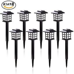 GIGALUMI Solar Pathway Lights Outdoor, Waterproof Outdoor So