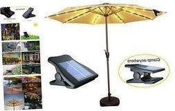 Solar Patio Umbrella Lights Cordless Parasol String Lights W