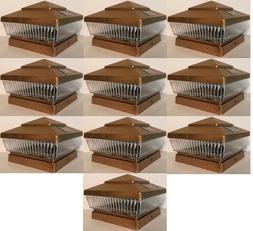 solar post cap deck fence led lights