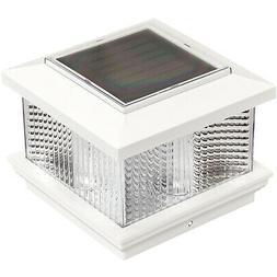 GreenLighting Solar LED Post Cap Light for 4 x 4 Vinyl Posts