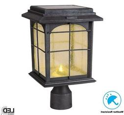 Solar Post Lantern Lighting 100 Lumens Weather Resistant See