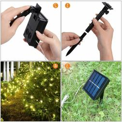 Solar power 10M 33FT 100 LED Copper Wire Outdoor Waterproof