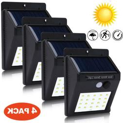 Solar Power 30 LED PIR Motion Sensor Wall Light Outdoor Gard