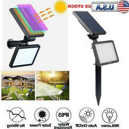 Solar Power 48 LED Spotlight Landscape Lights Outdoor Garden