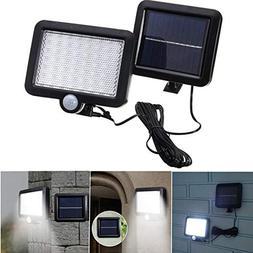 Solar Power 56 White LED PIR Motion Sensor Flood Wall Light