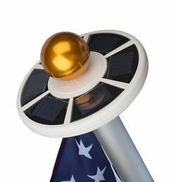 Sunnytech LED Solar Power Flag Pole Flagpole Light Auto Acti