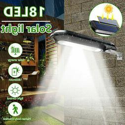 18 LED Solar Power Dusk to Dawn Light Outdoor Yard Garden Wa