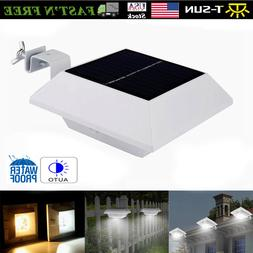 Solar Power Gutter Lights 6 LED Motion Sensor Outdoor 250LM