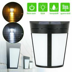 6 LED Solar Power Sensor Garden Yard Security Lamp Outdoor W