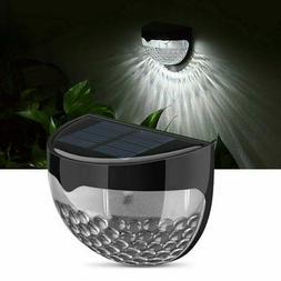 Solar Power Light Sensor 6 LED Wall Light Outdoor Garden Fen