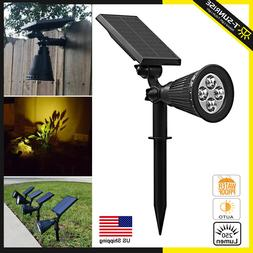 Solar Power Lighting 4/7 LED Garden Spot Light Outdoor Lawn