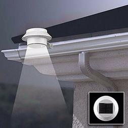 3 led solar powered gutter lights outdoor