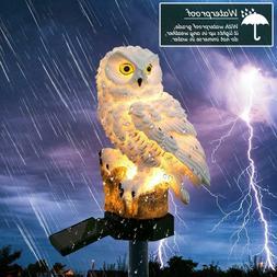Solar Power Outdoor Owl Decor Path Light Spot Lamp Yard Gard