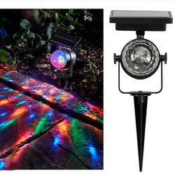Solar Power Outdoor Yard Garden Patio Rotating Projector Lig