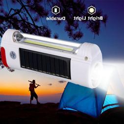 Solar Power/USB Rechargeable LED Flashlight Camping Hiking L