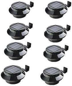 8 Pack Solar Power Outdoor Waterproof Gutter LED Security Sp