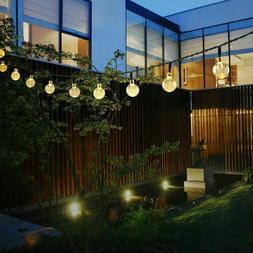 Solar Powered 30 LED String Light Garden Path Yard Decor Lam