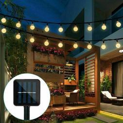 20ft 30 LED Solar String Ball Lights Outdoor Garden Yard Dec