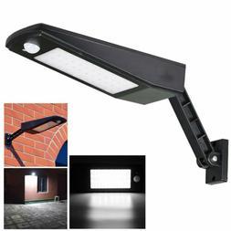 Solar Powered 48-LED Dusk-to-Dawn Sensor Waterproof Outdoor