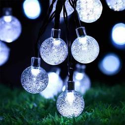 23ft 50 LED Solar String Ball Lights Outdoor Garden Yard Dec