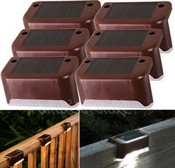 Solar Powered Deck Railing Automatic LED Lights Fence Patio