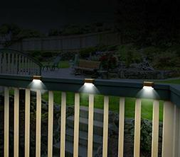 Solar Powered Deck Railing Lights LED Patio Outdoor Fence St