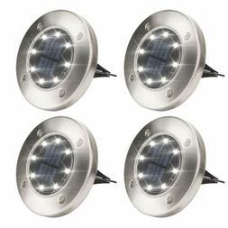 Solpex Solar Powered Disk Lights, 8LED, Waterproof Garden