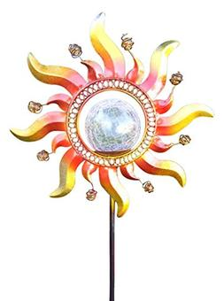 Solar Powered Glass Crackle Stake Color Changing Light with