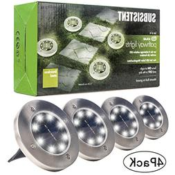 Solar Powered Ground Lights, Solar Path Lights Outdoor LED W