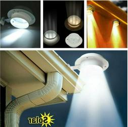 solar powered gutter light 3 leds outdoor