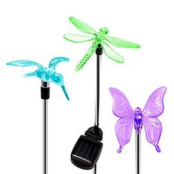 OxyLED Solar Garden Lights, 3 Pack  Solar Garden Stake Light