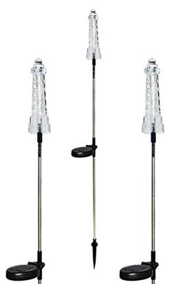 Solar Wholesale 1028-3 Solar Powered Lighthouse Garden Stake