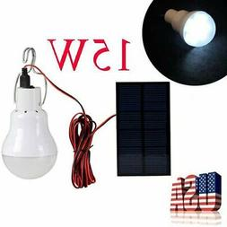 Solar Powered Panel LED Lighting System Lights 15W Portable