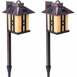 GIGALUMI Solar Powered Path Lights, Solar Garden Lights Outd