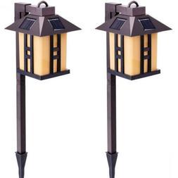 GIGALUMI Solar Powered Path Lights, Garden Lights Outdoor, L