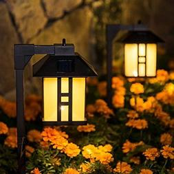 GIGALUMI Solar Powered Path Lights Solar Garden Lights Outdo