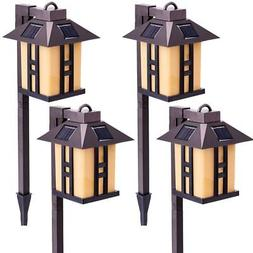 GIGALUMI Solar Powered Path Lights, Solar Garden Lights Outd