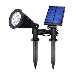 YINGHAO  Solar Outdoor Indoor Spot Light 2 in 1 Installation