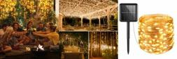 AMIR Solar Powered String Lights, 100 LED Copper Wire Starry
