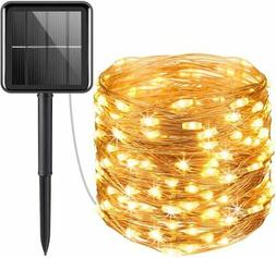 Solar Powered String Lights,100 LED Copper Wire Lights, Fair