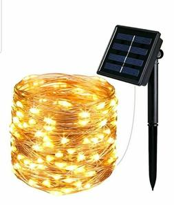 AMIR Solar Powered String Lights 100 LED Starry Fairy 10 Met