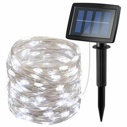 Solar Powered String Lights 150 LED, 2 Modes Steady on/Flash